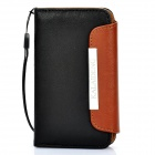 KALAIDENG Protective PU Leather Flip-Open Case for Iphone 4/4S - Black + Brown