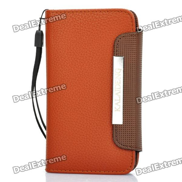 KALAIDENG Protective PU Leather Flip-Open Case for Samsung i9070 - Brown