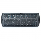 Foldable Wireless Bluetooth V3.0 66-KEY QWERTY Keyboard - Black