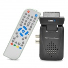 Scart DVB-T Digital Terrestrial Receiver + USB/SD/MS/MMC PVR with Remote Controller - Black
