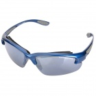 TOPEAKSPORTS Cycling Shooting Skiing Protective Safety Goggles w/ 5 Replacement Lens - Blue