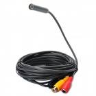 Waterproof AV-Out 6-LED Illuminated Snake Camera Endoscope (5M-Length)