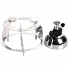 Mini Portable Butane Stove for Outdoor Travel / Camping / Picnic - Silver + Black