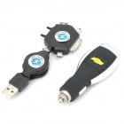 Chevrolet Logo Car Cigarette Powered Charger w/ Adapter Cable for iPhone / Nokia / Samsung + More