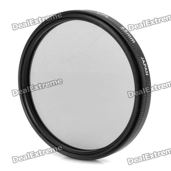CPL Circular Polarizer Lens Filter for Canon (55mm) benro 55mm cpl filter shd cpl hd ulca wmc slim filters waterproof anti oil anti scratch circular polarizer filter free shipping