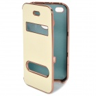 Stylish Flip-Open Protective PU Leather Case for iPhone 4 / 4S - Beige
