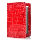 Protective PU Leather Case for Samsung Galaxy Tab P6800 / P6810 - Red