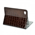 Protective PU Leather Case for Samsung Galaxy Tab P6800 / P6810 - Brown