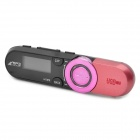 "0.9"" LCD Rechargeable MP3 Music Player w/ FM - Pink + Black (2GB)"
