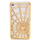 Spider Web Pattern Protective PC Case Cover for iPhone 4 / 4S - Golden