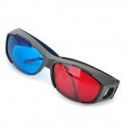 PC Frame Acrylic Lens Anaglyphic Blue + Red 3D Glasses