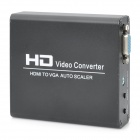 Single Way HDMI to VGA Auto Scaler Video Converter - Black