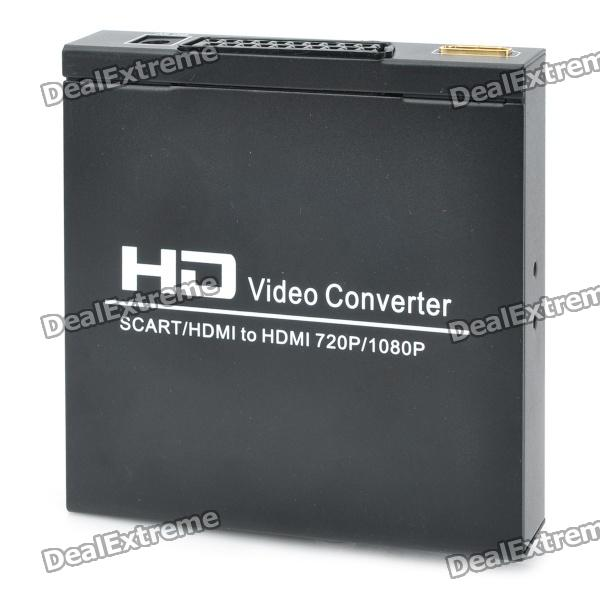 SCART + HDMI to HDMI Video Converter - BlackAV Adapters And Converters<br>Model:Form  ColorBlackConnectorHDMIPacking List<br>