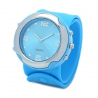Stylish Silicone Slap Band Quartz Wrist Watch - Blue (1 x AG4)