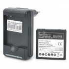 Replacement 3.7V 1600mAh Battery w/ AC Charger Dock for HTC Sensation XE / G15 / Sensation XL / G21