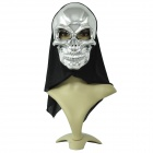 Skull Head Style Mask - Silver + Black