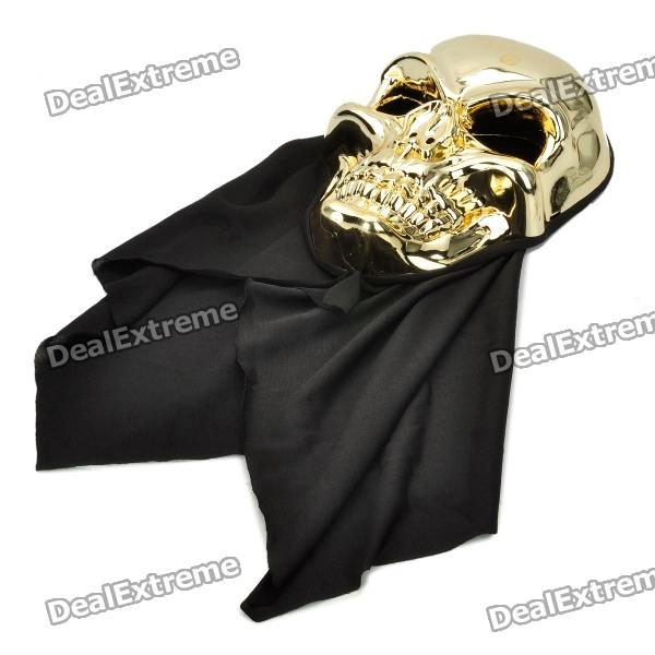 Cool Stylish Skull Mask - Golden + Black