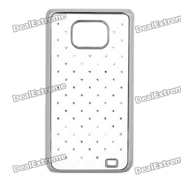 Rhinestone Starry Protective Back Cover Case for Samsung i9100 - White