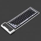 Portable Rechargeable Bluetooth V2.0 Flexible Keyboard - Black