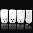 1-to-3 Wireless Remote Control AC Power Socket (125V / US Plug)