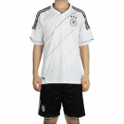UEFA Euro 2012 Home Jersey Shirt & Shorts Set for Germany Team - White + Black (Size XL)