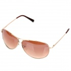 Classic Cupronickel Frame Resin Lens UV 400 Protection Sunglasses - Golden