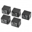 Mini 5 pines 10A Power Relay para Sistema de Seguridad - Negro (paquete de 5)