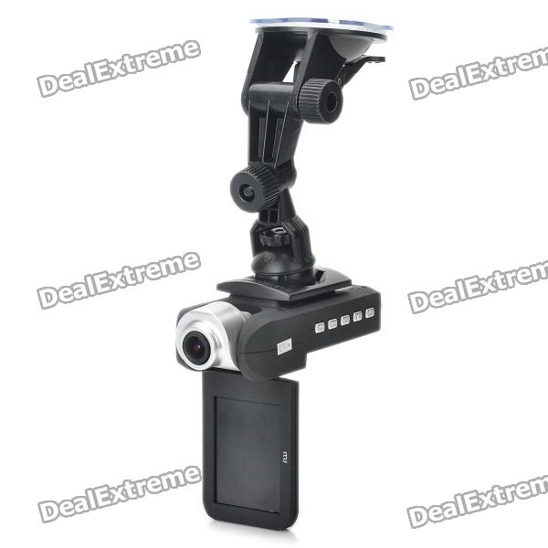 "2.4 ""LCD HD 720P DVR carro Wide Angle 5MP 8X zoom W / SD / AV OUT"