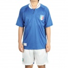 UEFA Euro 2012 Home Jersey Shirt & Shorts Set for Italy Team - Blue + White (Size L)