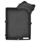 Kiki Cat Protective Silicone Cover Case for New iPad - Black