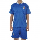 UEFA Euro 2012 Home Jersey Shirt & Shorts Set for Italy Team - Blue + White (Size XL)