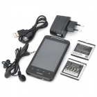 "G10 Android 2.2 GSM Bar Phone w/ 4.1"" Capacitive, Quad-Band, GPS, TV and Dual-SIM - Black"