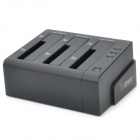 "ORICO 6638USJ-C 3-Bay 2.5""/3.5"" SATA HDD Docking Station - Black"