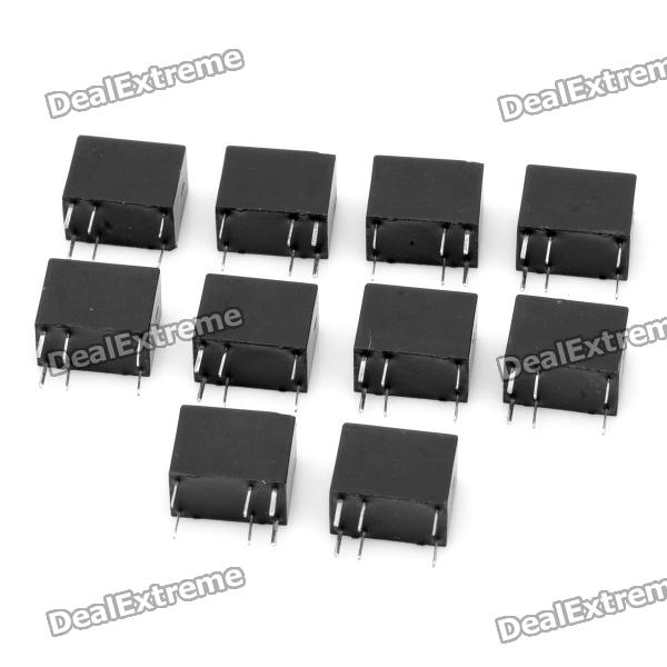 DIY Power Relay for Communication Security - Black (10-Piece Pack) diy power relay for communication security yellow 5 piece pack