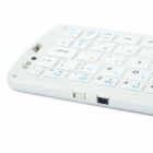 66-Key Foldable Bluetooth Keyboard w/ Waterproof Silicone Button / Stand - White (Bluetooth 3.0)