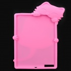 Cute PaPa Cat Style Protective Silicone Case for the New Ipad - Pink