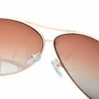 Classic Cupronickel Frame Resin Lens UV 400 Protection Sunglasses - Beige