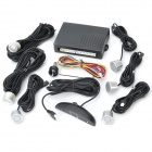 LED Car Parking Sensor System BiBi Alarm with 6 Sensors - Silver