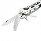 Portable Folding 9-in-1 Stainless Steel Multi-Tool Pliers - Silver