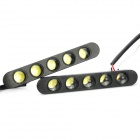 7.5W 5-LED 1080~1100LM 6000~6500K 2-Mode White Light Daytime Running Lamps (12V / Pair)