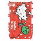 Shining Acrylic Diamond Hello Kitty Pattern Plastic Back Case for BlackBerry 8520 / 8530 - Red