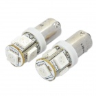 BX9S 1W 70-Lumen 5-5050 SMD LED Red Light Car Width / Reading / Door Lamps (DC 12V / Pair)