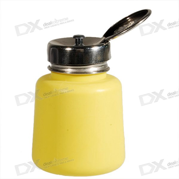 Yellow Anti-Static/Anti-Reflux Alcohol Bottles (120ML) anti static elastic finger cots stalls yellow size l 50 pcs