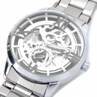 Steel Mechanical Wrist Watch - Silver