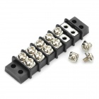 Copper Cable Wire Terminal Connector - Black + Silver (5-Piece Pack)