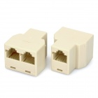 RJ45 Splitter Connector Adapter (2-Pack)