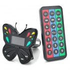 "Butterfly Style 1.1"" LCD Car MP3 Player FM Transmitter w/ USB / SD / TF - Black (12~24V)"