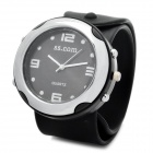 Stylish Silicone Slap Band Quartz Wrist Watch - Black (1 x AG4)