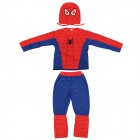 Full Set Spider Man Costume for Children (L Size for 125cm Height Child)