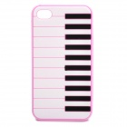 Stylish Piano Style Soft Silicone Case for Iphone 4 / 4S - Pink